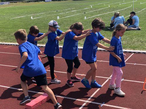 WLV Kinderleicht-Athletik VOR ORT bei strahlendem Sonnenschein in Langenargen