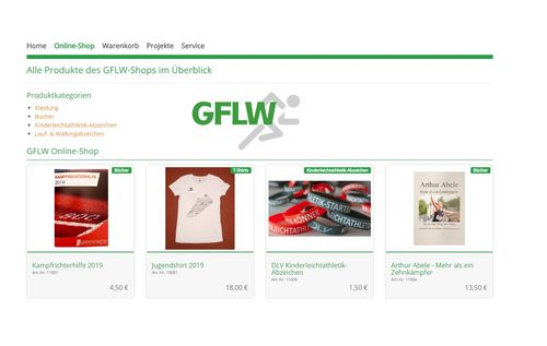 Der Online-Shop in neuem Design