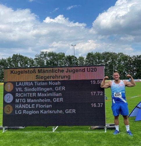 BW U20/U18: 19,50 Meter für Tizian Lauria