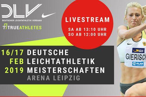 Die Hallen-DM 2019 in Leipzig im Livestream auf leichtathletik.de