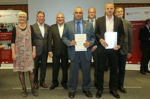 Trainer-Diplom für Volker Zahn und Khalid Alqawati