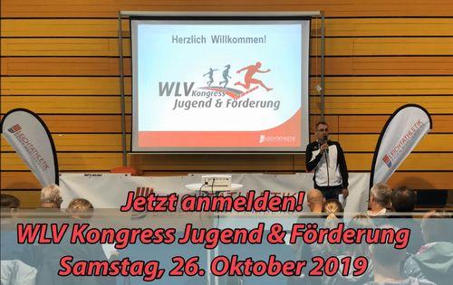 WLV Kongress Jugend & Förderung: 26. Oktober 2019