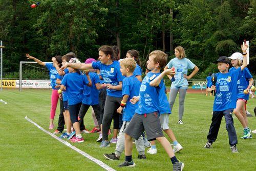 Kinderleichtathletik vor Ort am 28. Juni 2018 in Stuttgart-Degerloch
