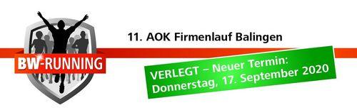 Verschiebung - AOK-Firmenlauf findet im September statt
