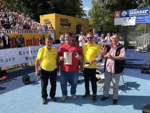 WLV Verdienstplakette für Günter Eisinger und Harry Brunnet