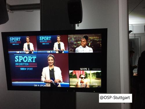 Sportinternat des OSP Stuttgart zu Gast bei SWR
