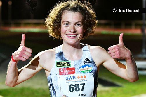 Starke 10-Kilometer-Zeit für Alina Reh beim Heimspiel in Ulm
