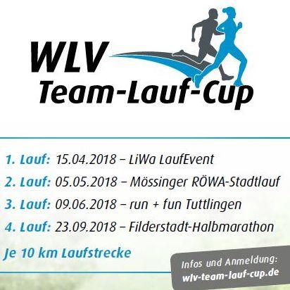 Die Termine für den WLV Team-Lauf-Cup 2018 stehen fest