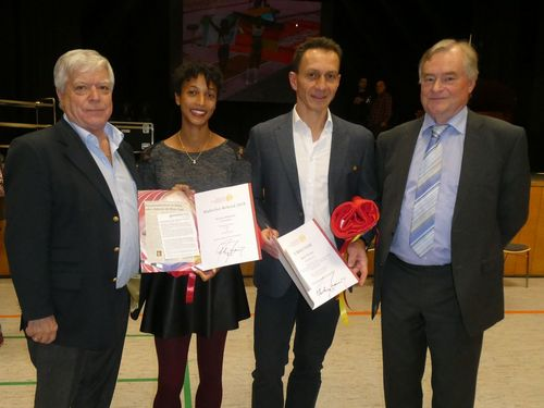 Großer Empfang für Malaika Mihambo und Ralf Weber