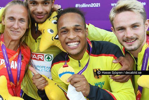 Stolz auf seine Staffel-Goldmedaille der U23-EM: Milo Skupin-Alfa