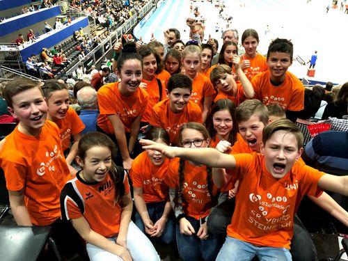 VR-Talentiade-Kids treffen die Stars beim Indoor Meeting in Karlsruhe