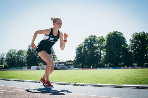 Fabienne Amrhein läuft bei der Marathon DM zum Titel