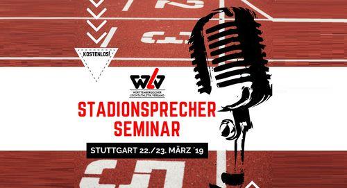 WLV Stadionsprecher-Seminar für Nachwuchssprecher