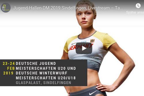 Deutsche Jugend-Hallenmeisterschaften und Deutsche Winterwurfmeisterschaften 2019 in Sindelfingen