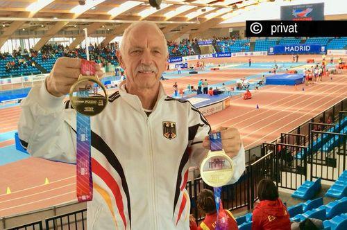 Für Reinhard Michelchen gab es in Madrid zwei mal Gold