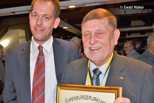 Chapeau für Lebensleistung: Peter Schramm Ehrenbürger in Eberstadt