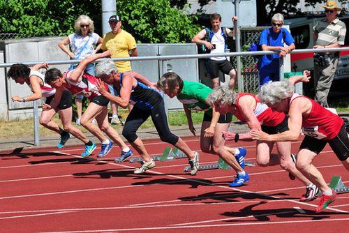 Leichtathletik-Senioren kämpften um Landestitel