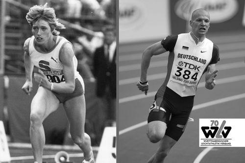 70 Jahre WLV: Zwei Namen, die den Sprint prägten: Heidi-Elke Gaugel und Tobias Unger